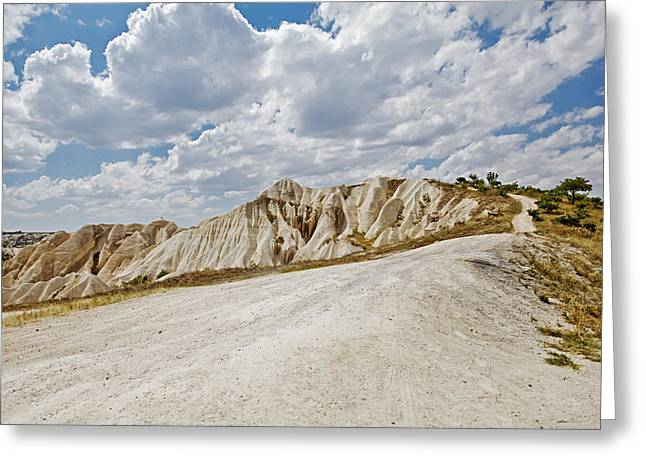 Follow The Path Into Clouds Greeting Card by Kantilal Patel