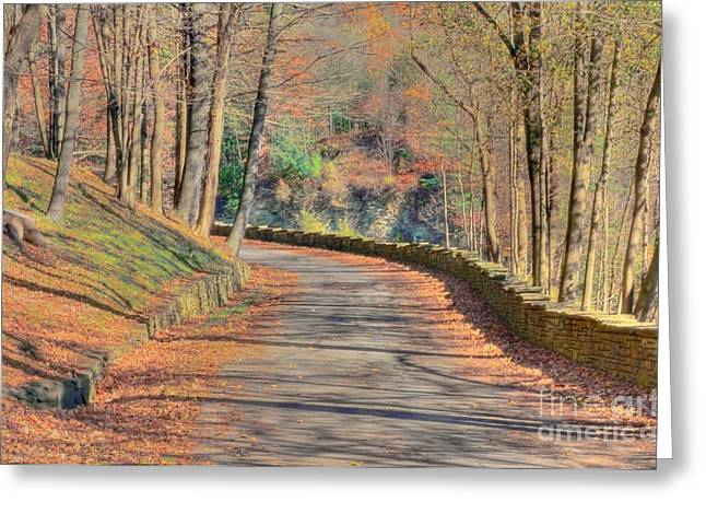 Follow The Path Greeting Card by Kathleen Struckle