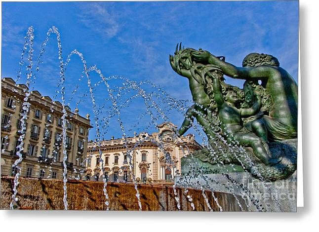 Fontana Di Piazza Solferino Greeting Card by Sonny Marcyan