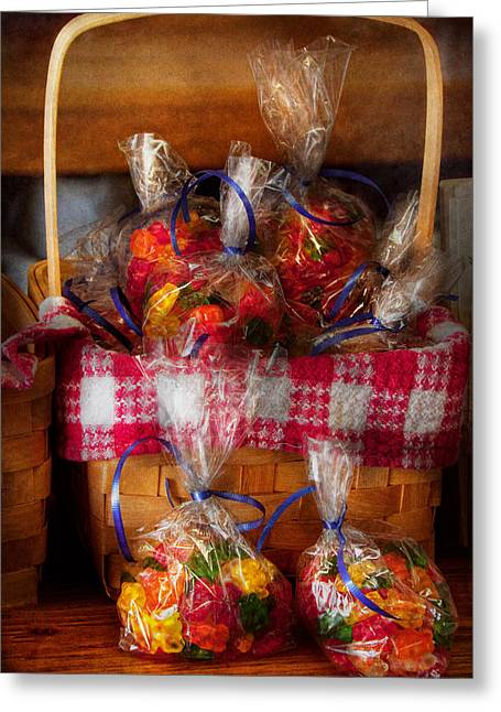 Food - Candy - Gummy Bears For Sale Greeting Card by Mike Savad