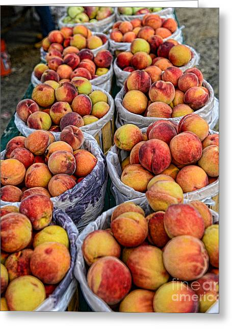 Food - Harvested Peaches Greeting Card by Paul Ward