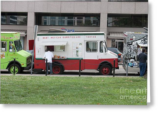 Food Truck Washington Dc Greeting Card