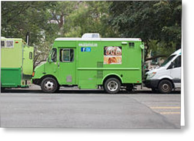 Food Trucks Greeting Card