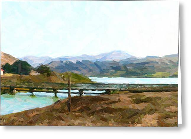 Foot Bridge At Rodeo Lagoon In The Marin Headlands . Photo Art Greeting Card by Wingsdomain Art and Photography