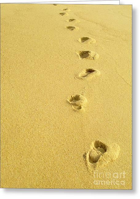 Foot Prints Greeting Card by Carlos Caetano