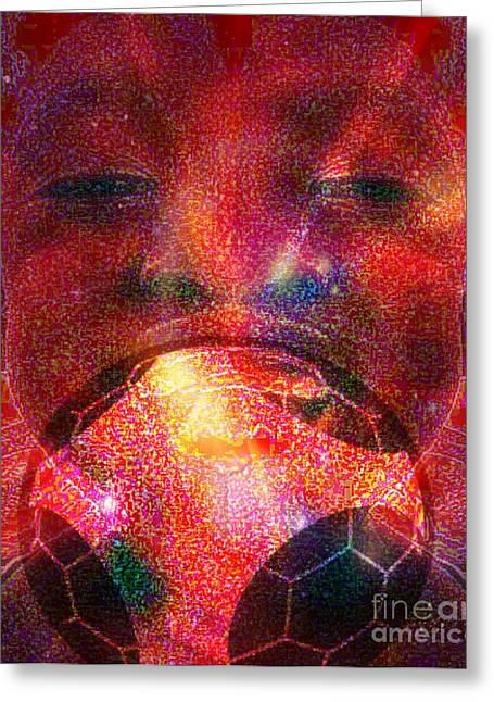 Football - Le Ballon De Calixte Greeting Card by Fania Simon