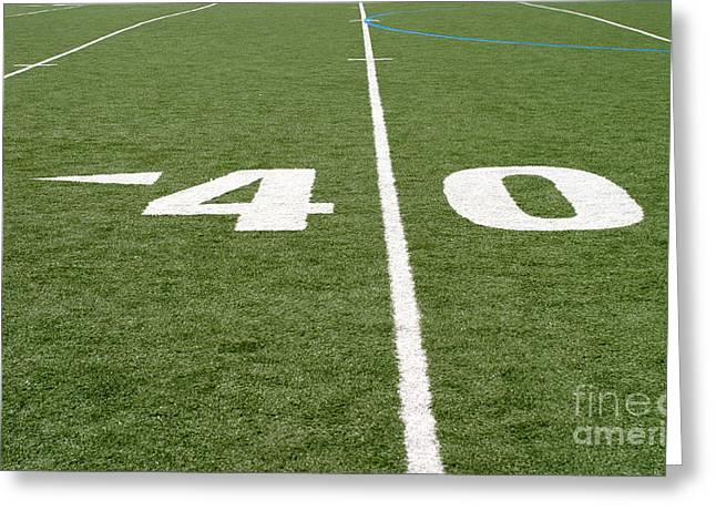 Greeting Card featuring the photograph Football Field Forty by Henrik Lehnerer