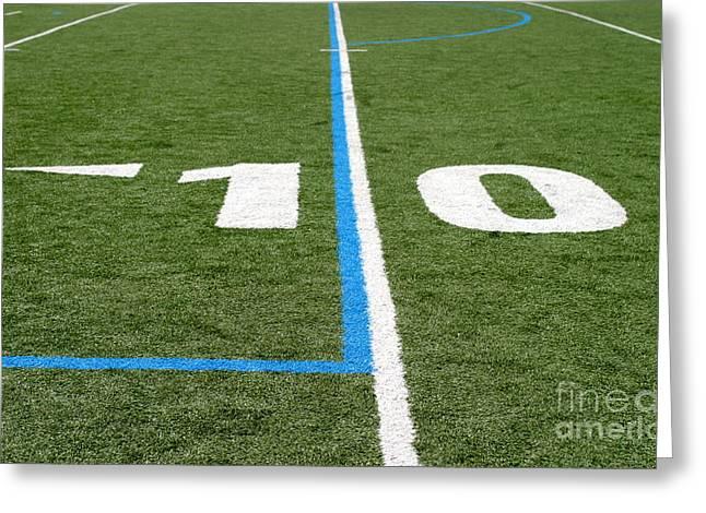 Greeting Card featuring the photograph Football Field Ten by Henrik Lehnerer