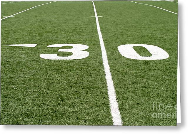 Greeting Card featuring the photograph Football Field Thirty by Henrik Lehnerer