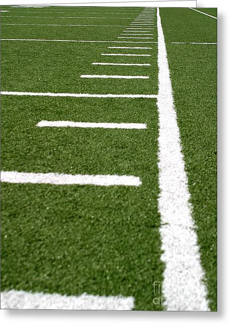 Greeting Card featuring the photograph Football Lines by Henrik Lehnerer