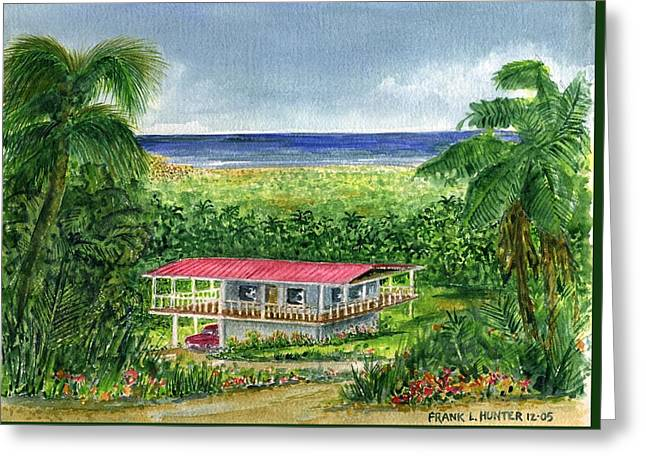 Foothills Of El Yunque Puerto Rico Greeting Card by Frank Hunter
