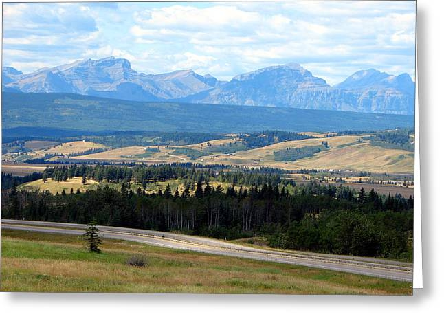 Foothills West Of Calgary Greeting Card