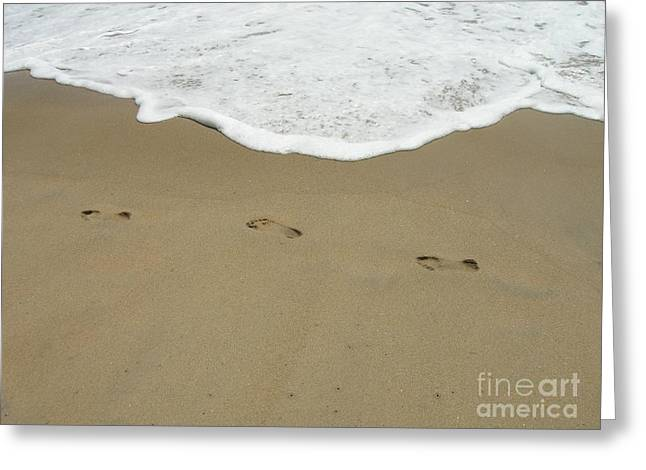 Greeting Card featuring the photograph Footprints by Arlene Carmel