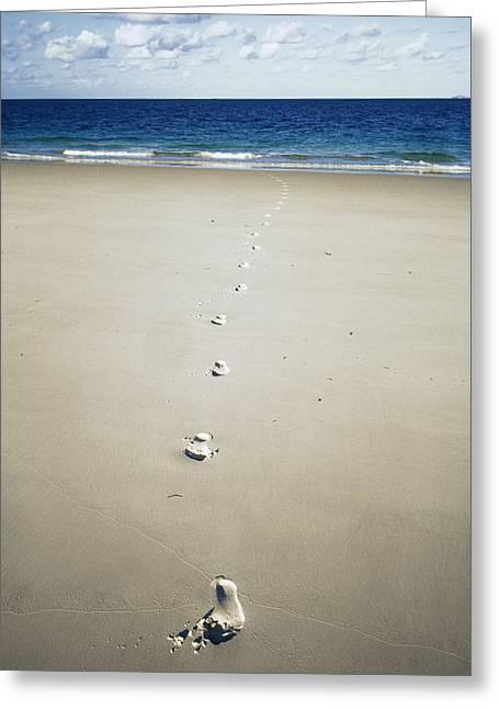 Footprints Greeting Card by Carlos Dominguez