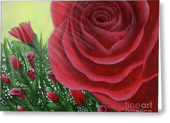 For The Love Of Roses Greeting Card by Kristi Roberts