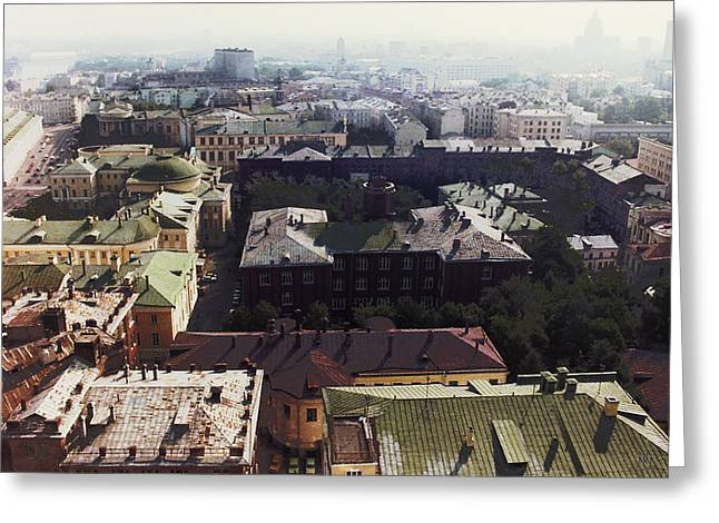 forbidden view over Moscow Greeting Card by Nafets Nuarb