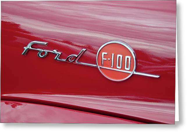 Ford F-100 Nameplate Greeting Card by Guy Whiteley