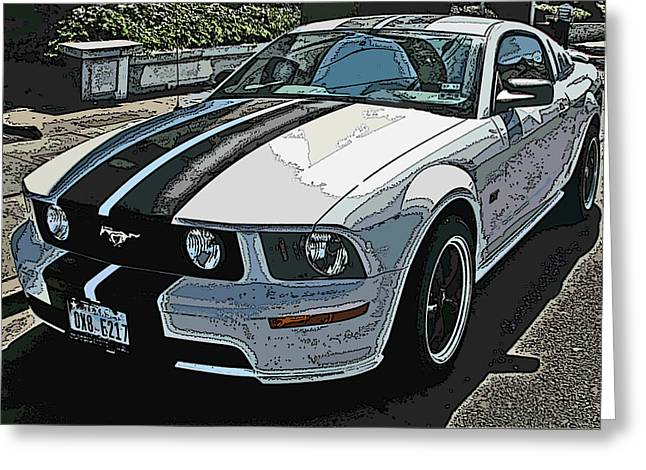 Ford Mustang Gt No. 2 Greeting Card by Samuel Sheats