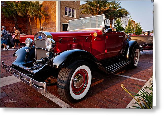 Ford Roadster Greeting Card by Christopher Holmes