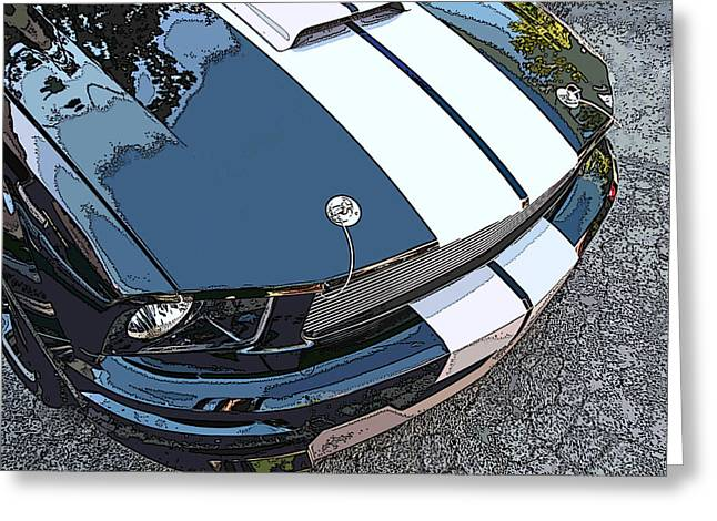 Ford Shelby Gt Nose Study Greeting Card