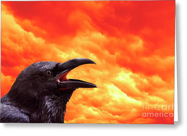 Foreboding Greeting Card by Michal Boubin