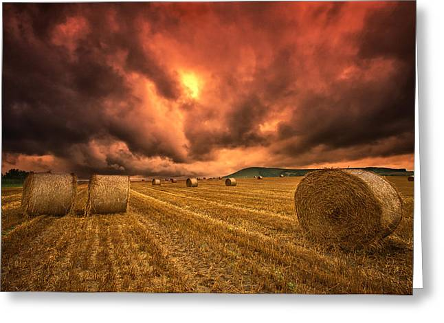 Foreboding Sky Greeting Card by Mark Leader
