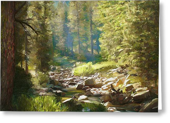 Forest Creek Greeting Card by Dale Jackson