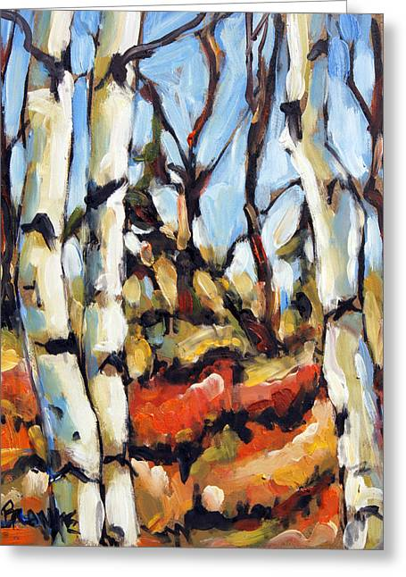 Forest Edge By Prankearts Greeting Card by Richard T Pranke