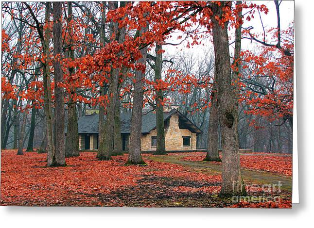 Forest Field House 2 Greeting Card by Cedric Hampton