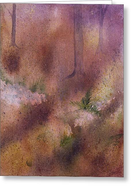 Forest Floor Greeting Card by Debbie Homewood