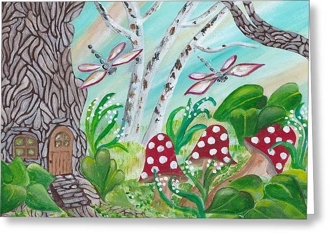Forest Home Greeting Card by Gail Peltomaa