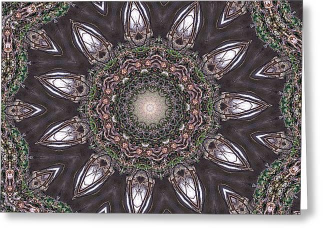 Forest Mandala 1 Greeting Card by Rhonda Barrett