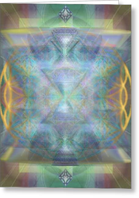 Forested Chalice II In The Flower Of Life And Vortexes Greeting Card