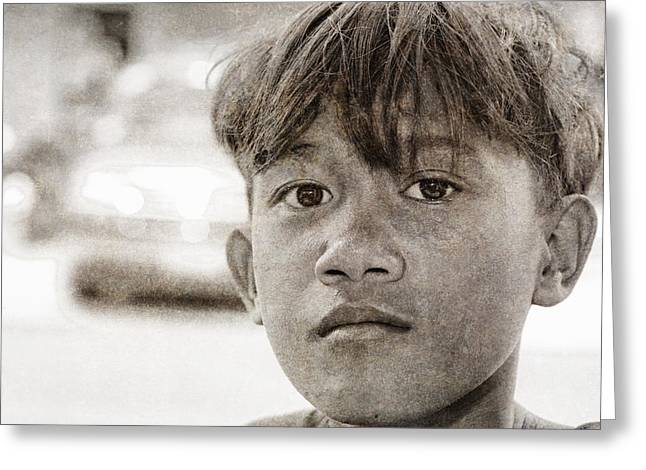 Forgotten Faces 16 Greeting Card by Skip Nall