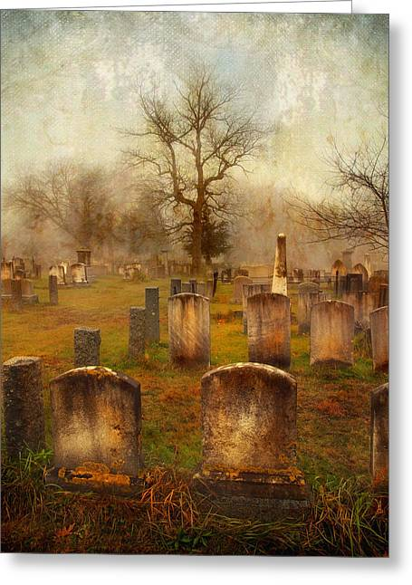 Greeting Card featuring the photograph Forgotten Souls  by Karen Lynch