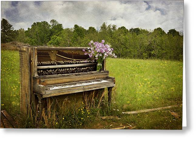 Forgotten Tunes Greeting Card by Kathy Jennings