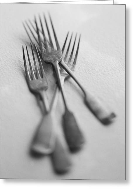 Forks Greeting Card by John Wong