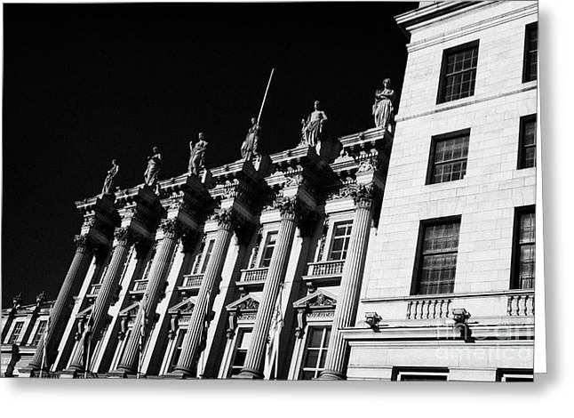 Former Headquarters Of The British Linen Bank Now Offices Of The Bank Of Scotland Edinburgh Scotland Greeting Card by Joe Fox