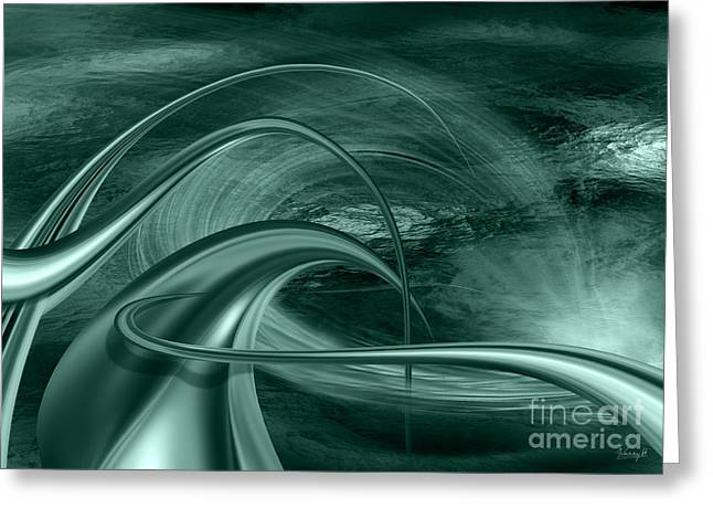 Greeting Card featuring the digital art Forms In Movements 2 by Johnny Hildingsson