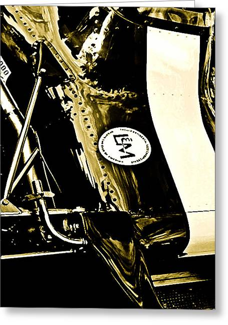 Formula 5000 Greeting Card by Michael Nowotny