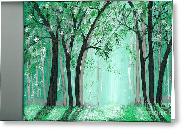 Forrest Greeting Card by Kat Beights