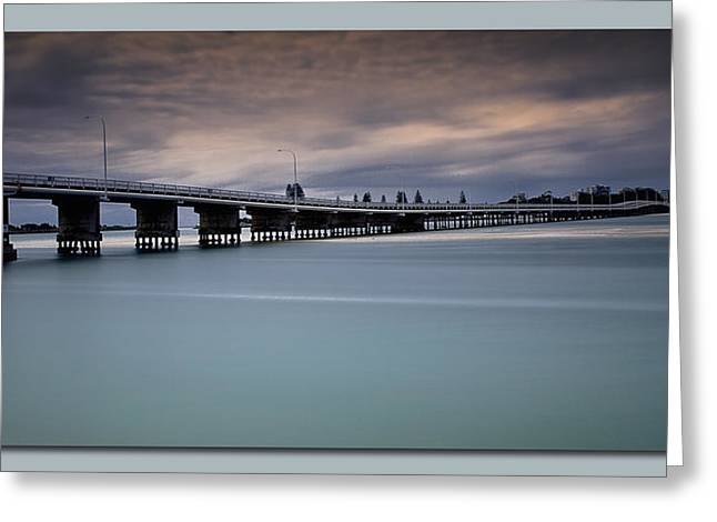 Greeting Card featuring the photograph Forster Bridge 01 by Kevin Chippindall
