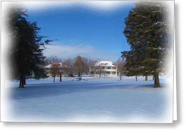 Fort Bayard In Winter Greeting Card by FeVa  Fotos