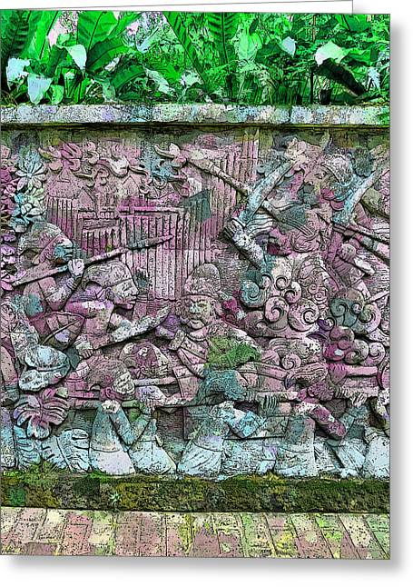 Fort Canning's Mural Wall Greeting Card by Steve Taylor