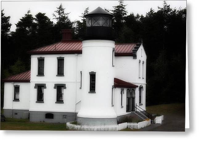Fort Casey Lighthouse Greeting Card by Lee Yang