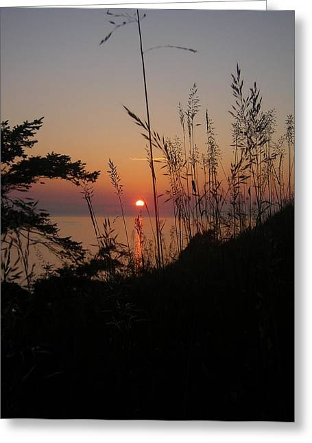 Fort Ebey Sunset Greeting Card