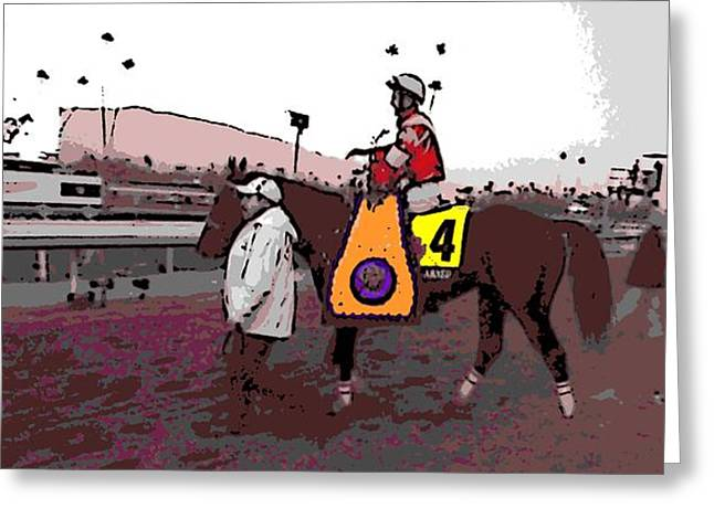 Fort Larned Greeting Card by George Pedro