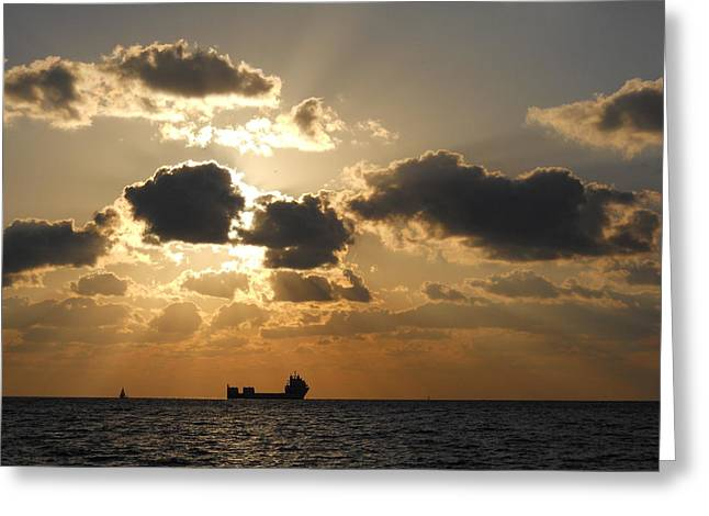 Greeting Card featuring the photograph Fort Lauderdale Sunrise by Clara Sue Beym