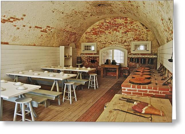 Fort Macon Mess Hall_9078_3765 Greeting Card by Michael Peychich