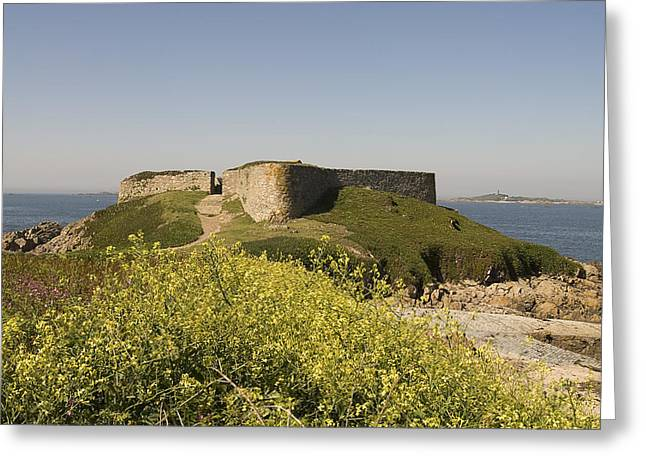 Fort Pezeries - Plainmont - Isle Of Guernsey. Greeting Card by Urft Valley Art